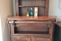 Old Bar table and shelves