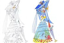 Модный дом Смотровой Дарья (Fashion House of Smotrova Daria) / I would like to present some of my drawings. I hope you enjoy it :)