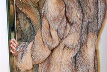 fur in the mirror