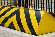 Road Blockers & Rising Kerbs / Hydraulically operated. Various lift heights  http://www.frontierpitts.com/products/blockers/