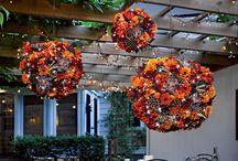 hanging flower arr