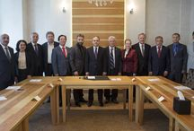 Ankara Samsun Sanayici, İş Adamları ve Yöneticileri Derneği Yönetim Kurulu Kabulü / Ankara Samsun Sanayici, İş Adamları ve Yöneticileri Derneği Yönetim Kurulu ile buluştuk.