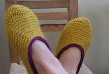 Slippers and sock