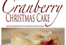xmas cranberry cakes