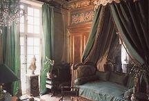 velvet and wood