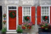 Red Shutters... / by Mary Ann Powell