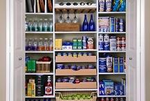 Walk-in Pantry / Walk-in pantry, rack organizer