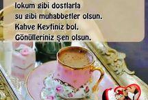 Kahveler ...☕️☕️☕️