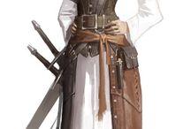 キャラデザ 女性 時代系 戦士