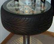decoração de pneus