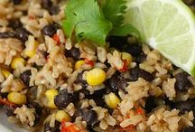 Rice with black bean