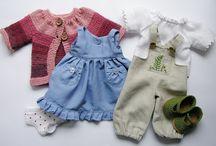 poupées Waldorf et leurs vêtements / by Martine Leplat