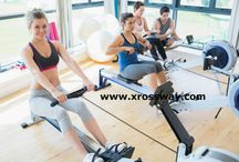 Magnetic Rowing Machine with Adjustable Resistance.