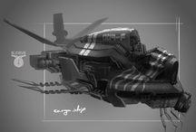 CG Sci-fi transport