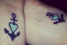 Matching tattoos.