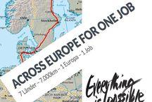 Across-europe / Zu Fuß vom Nordkapp nach Messina für einen neuen Job und die einmaligen Möglichkeiten von Europa.