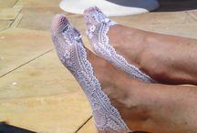 Meias de renda / Meias de renda, Pés de anjo rendados. Finas sapatilhas em renda para proteger e embelezar os seus pés. Em várias cores e modelos. Encomendas: asmocasquecosturam@gmail.com