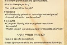 Resume Tips / by Cazenovia College Career & Extended Learning
