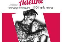 prénoms en fête et tattoos / Un tatouage de fille et le prénom en fête