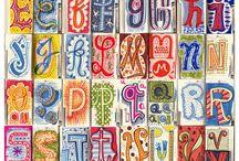 ART: FONTS, TYPE, CALLIGRAPHY, ET AL / by Valerie Fletcher