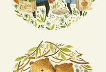 illustrations: cute animals