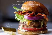 National Burger Day / Celebrating the good old burger - and especially venison burgers - healthy, lower in fat and full of protein.