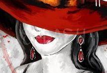 Schilderijen met hoeden