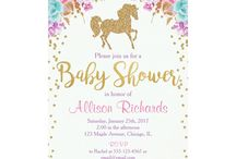 Baby Shower Ideas Girl / Unicorns and pastel colours-main Golden stars. Hearts Crowns White clouds Rainbows See photobooth ideas