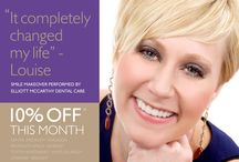 May-14 Promotion - 10% off cosmetic dental treatments / Our latest promotion gives you 10% of a range of our most popular cosmetic dental treatments