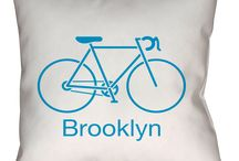 Brooklyn Bicycle Throw Pillow
