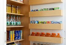 Great idea! Add extra storage on the back of cupboard doors. Pushing the shelf items back just a tad allows