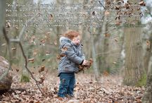 Autumn family adventure photo sessions / Autumn colours and leaves to play in - a great time to plan your family photo session.