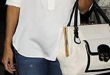 Eva Longoria: Purse – Salvatore Ferragamo Shoes – Christian Louboutin Jeans – Henry & Belle