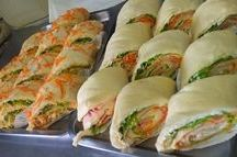 Sanduíches enrolados