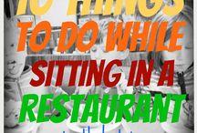 Activities - in the restaurants