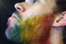 Rainbow + Hair = Awesome / Hair Dye, Beard and Mustache Dye, Hair extensions, bright colors!