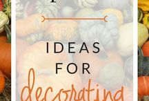 Autumn Home Decor / Decorating your home for Autumn