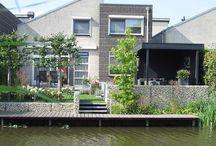 Tuinhuis aan water