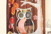 Owls / #owls #bathroom decor #nursery #bed and bath