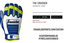 Custom Batting Gloves / This is a board of all the Custom Batting Gloves made by you.  Made By Franklin            x  Created By You   / by Franklin Sports