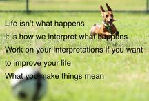Healthy Mindset / Life isn't what happens It is how we interpret what happens Work on your interpretations if you want to improve your life What you make things mean