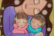 mother child art