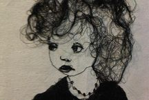 Portraits embroidery/textiles