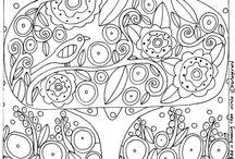 coloriages, art collaboratif
