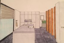 Interior Drawings / Sketch, perspective, scale