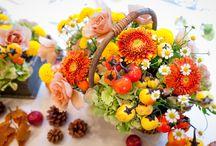 wedding Halloween / ハロウィンにやった結婚式。テーマは『収穫祭』 自分たちで田植えして刈り取った稲穂を使って、会場の装飾とブーケを作りました。