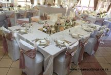 Blush pink and crystal / An elegant and romantic affair