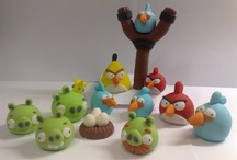 Angry birds fondant figures / by Figurice Za Torte