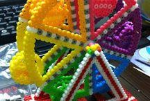 Pärlor 3 D /Beads 3D / Hama/ Nabbi pärlor. 3D motiv/byggnader
