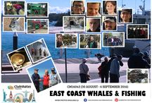 CM16043 EAST COAST WHALES & FISHING / 30 August - 6 September 2016 (8 Days/7 Nights)